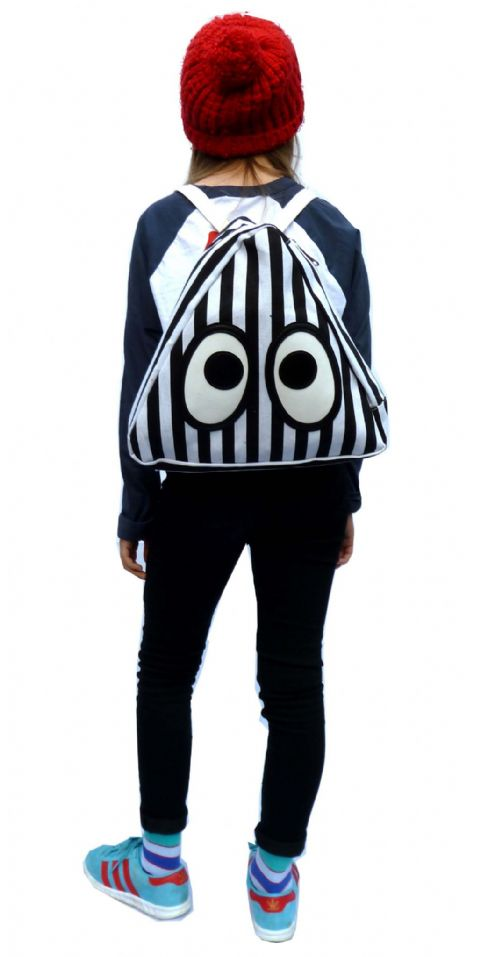 Fuzzdandy Kids Bag - School Rucksack Knapasck - Black & White Stripes